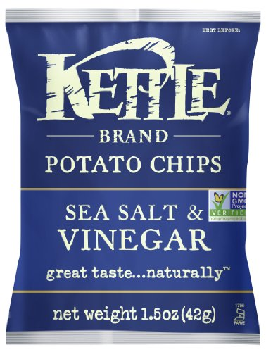 Kettle Brand Potato Chips, Sea Salt and Vinegar, 1.5-Ounce Bags (Pack of 24) (Kettle Brand Chips compare prices)