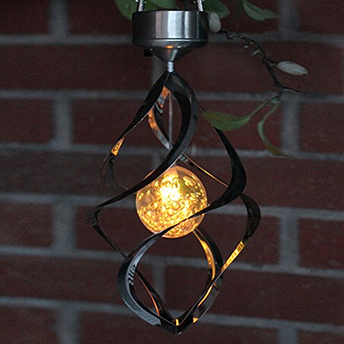 AGPtEK Solar Power Light Wind Spinner LED Light