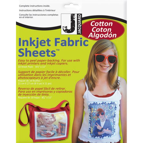 "Jacquard Ink Jet Fabric 8.5"" x 11"" Cotton Sheets (10 Pack)"