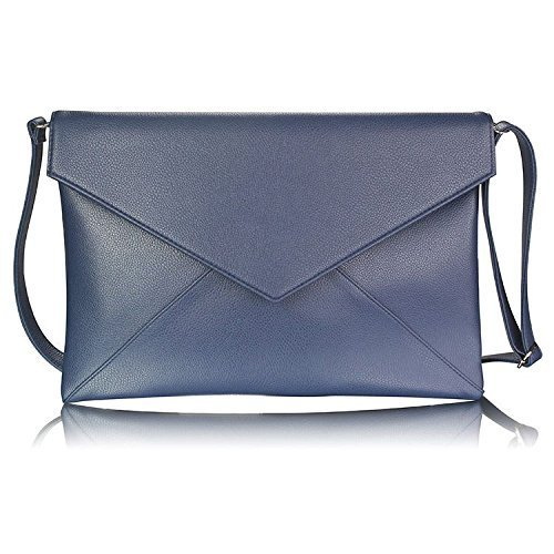 KCMODE Ladies Oversized Evening Flapover Clutch Bag Purse