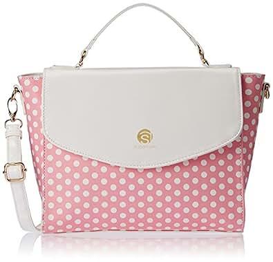 Sugarush Bloom Women's Satchel Handbag (Pink) SR/BLO/ST113/FIN2015)