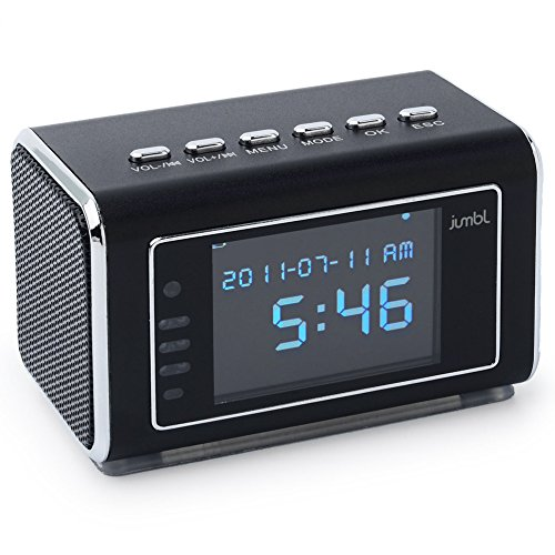 Lowest Price! Jumbl JU-SC02B Mini Hidden Spy Camera Radio Clock wih Motion Detection and Infrared Ni...