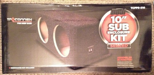 "Metra - 10"" Dual Sealed Subwoofer Enclosure - Charcoal Tcfps-210"