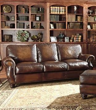 Avellino 100% Full Aniline Italian Leather Love Seat (Artisano Highlight Cognac)