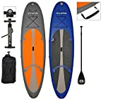 """Vilano Navigator 10' (6"""" Thick) Inflatable SUP Stand Up Paddle Board Package"""