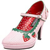 Funtasma by Pleaser Women's Contessa-58 Platform Mary Jane,Baby Pink PU,8 M US