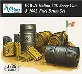 ヴィジョンモデルズ 【VA9004】 1/35 WWII イタリア陸軍 20Lジェリ缶・200Lドラム缶セット