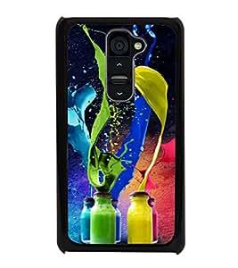 printtech Bottle Color Splash Back Case Cover for LG G2::LG G2 D800 D980