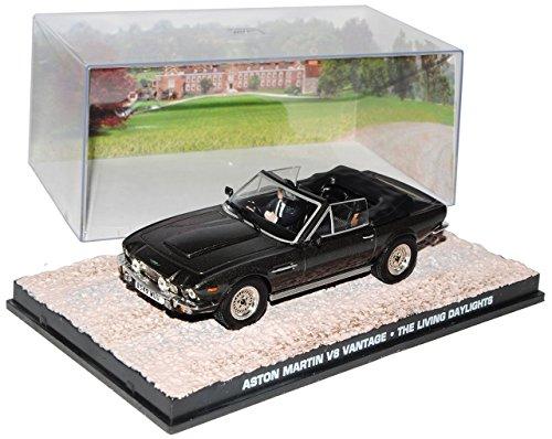 Aston-Martin-V8-Vantage-Cabrio-Der-Hauch-des-Todes-James-Bond-007-143-Ixo-Modell-Auto-mit-individiuellem-Wunschkennzeichen