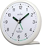 Acctim 71452 Yale Alarm Clock, White, Radio Controlled