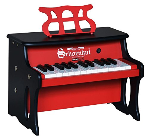 Schoenhut 25 Key 2 Toned Table Top Piano, Red/Black, One Size (Tabletop Piano compare prices)