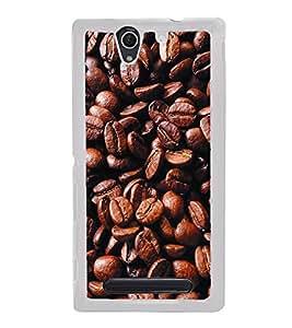 Coffee Beans 2D Hard Polycarbonate Designer Back Case Cover for Sony Xperia C4 Dual :: Sony Xperia C4 Dual E5333 E5343 E5363