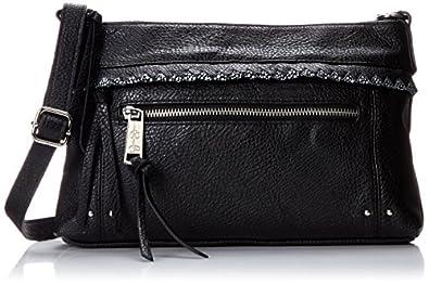 Jessica Simpson Dream Weaver Cross Body Bag,Black/Black Stingray,One Size