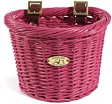 Nantucket Bike Basket Company Gull Collection (Child-Size Oval/ 10.5 x 8 x 7.5, Pink)