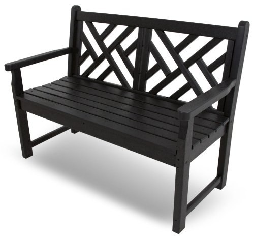 POLYWOOD CDB48BL Chippendale 48″ Bench, Black