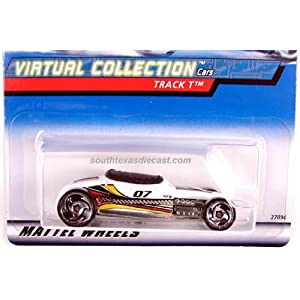 2000-127 White Track Roadster Virtual Collection Collectible Collector Car Mattel Hot Wheels