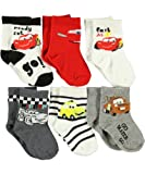Disney Cars Fast as Lightning 6-Pack Crew Socks