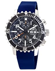 Fortis Men's 671.10.41 SI.05 B-42 Marinemaster Automatic Blue Rubber Chronograph Date Watch