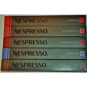 Choose 50 NESPRESSO COFFEE CAPSULES DECAF - DECAFFEINATO, DECAF LUNGO, DECAF INTENSO, ARPEGGIO, ROMA from Nespresso