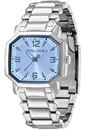 Police Meduse Men's Quartz Watch with Blue Dial Analogue Display and Stainless Steel Bracelet PL.13402MS/04MB