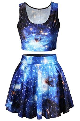 pink-queen-2-piece-crop-tank-top-tees-and-flare-skirt-set-blue-galaxy-print-osblue-galaxy-printone-s
