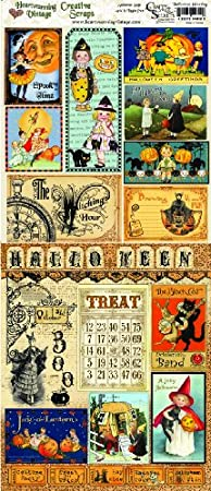 Crafty Secrets Heartwarming Vintage Creative Scraps Halloween (Double-sided)