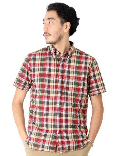 (ビームスプラス) BEAMS PLUS / インドマドラスチェック ボタンダウンシャツ 11010176139  ワイン S