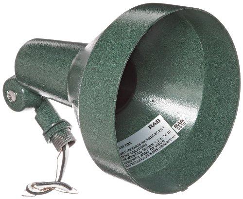 RAB Lighting H101VG Landscape Bell Shaped H System Par Flood, PAR38 Type, Aluminum, 150W Power, Verde Green (Par 38 Motion Sensor compare prices)