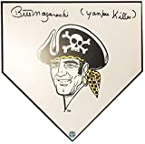 Bill Mazeroski Buccaneer Home Plate - Autographed and inscribed 'Yankee Killer'