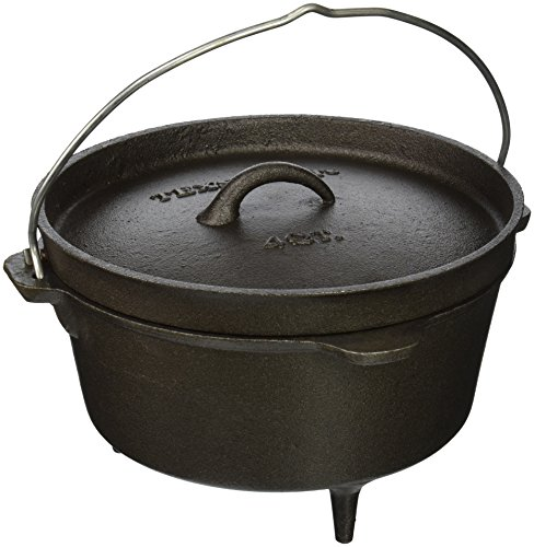 Texsport Cast Iron Dutch Oven - 4 Quart