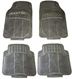 4 Piece Waterproof Heavy Duty BLACK Rubber Front & Rear Car Non-Slip Floor Mats For Audi A3 (2004-2012) Saloon