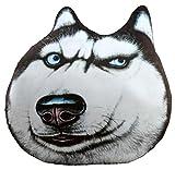 しあわせ倉庫 男前 犬 クッション 3D リアル 大きい 抱き 枕 ぬいぐるみ インテリア (ワイルド)