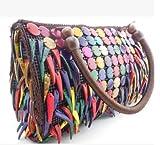 Handmake Splice Ladies Shoulder Bags Handmade Tote Handbags