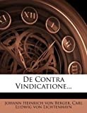 img - for De Contra Vindicatione... book / textbook / text book