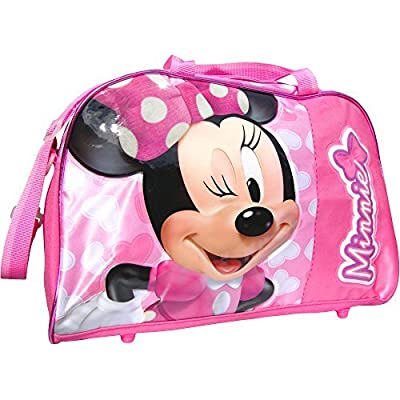 Disney Minnie Mouse Pink Hearts Travel Holdall Bag