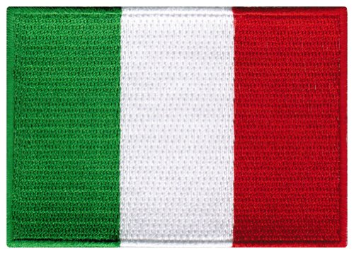 Italy Flag Embroidered Patch Italian Iron-On National Emblem (Italian Flag Souvenir compare prices)