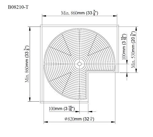32 inch premier lazy susan cabinet organizers. Black Bedroom Furniture Sets. Home Design Ideas