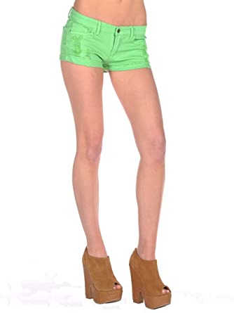 bright colored short shorts