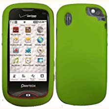 buy Neon Green Silicone Jelly Skin Case Cover For Pantech Hotshot 8992