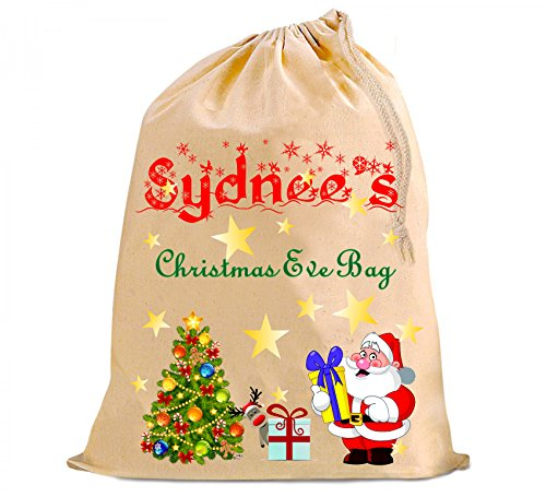 Christmas Eve Santa sack bag great for pyjamas/nighty or sneaky early presents