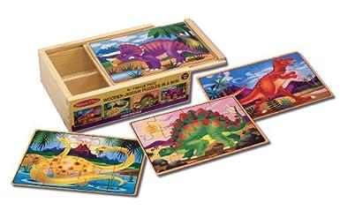 4 Dinosaur Puzzle Box