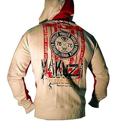 Yakuza ORIGINAL Kapuzenjacke - HZB 528 weiß / ribbon red BRANDNEU S-3XL