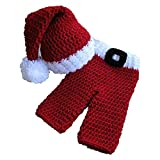 Jastore Photography Prop Baby Santa Claus Crochet Knitted Costume Hat Pants