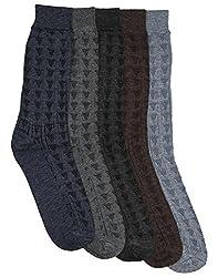Mikado Multi Colour Woolen Full Lenght Socks for Men - 10 Pair Pack