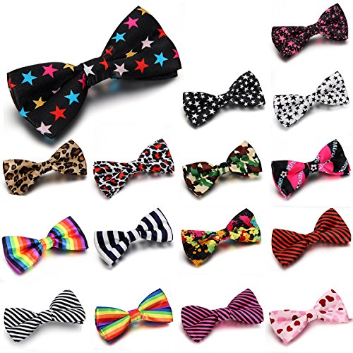 Jewelrywe Gioielli 16Pcs Bow Tie Stripe