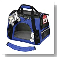 OxGord Airline Approved Pet Carriers w/ Fleece Bed For Dog & Cat - Medium, Soft Sided Kennel - 2016 Newly Designed Model, Sapphire Blue