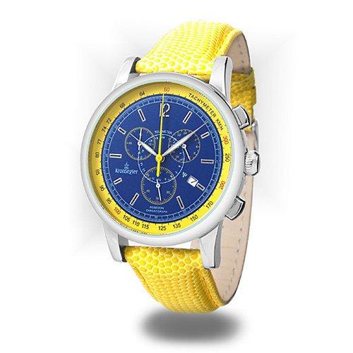 Kronsegler Poseidon Chronograph steel – blue/yellow
