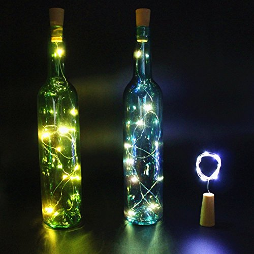 Innozon Wine Bottle Light Cork Shape Lights LED Copper Wire String Lighting for Bottle DIY and Party, Christmas, Halloween, Décor, Xmas Gift,3 Pack ,Pure White