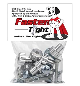 Fasten Tight Kennel Hardware - Silver-8-pack
