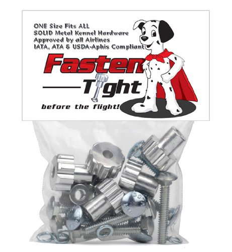 Fasten Tight Kennel Hardware - Silver-8pk